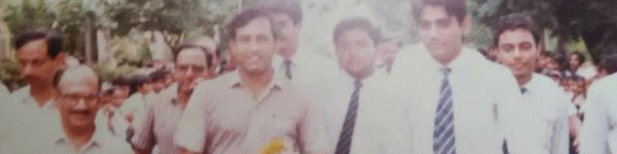 1st Indian Astronaut Rakesh sharma with CQS director rakesh gupta....year 1989