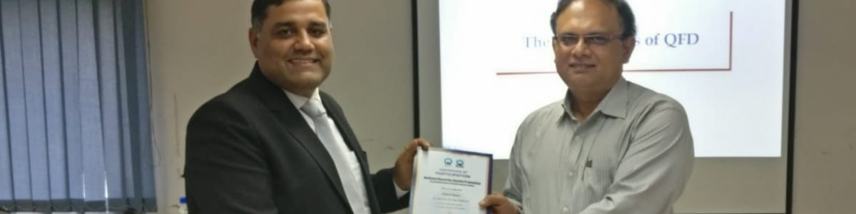 Recieving Certificate from CEO, NBQP, QCI